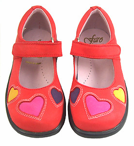 B-7724 - Red Heart Mary Janes - EU 24 Size 7