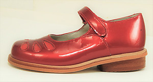 B-7703 - Cherry Red Mary Janes - Euro 25 Size 7