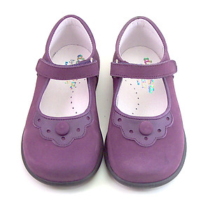 B-7784 - Girls' Purple Mary Janes
