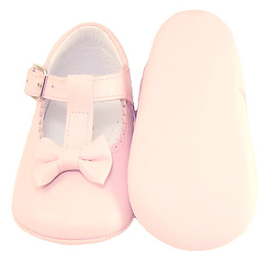 PI-1531 - Pink Bow Crib Shoes