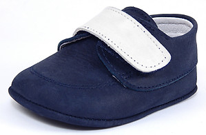 DO-102 - Navy Nubuck Crib Shoes