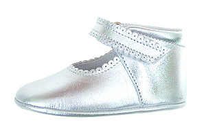DO-103 - Silver Crib Pram Shoes