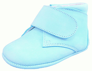 DO-104 - Turquoise Nubuck Crib Shoes