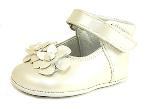 DE OSU DO-130S - Ivory Crib Shoes - EU 16 US 0