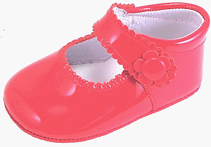 DO-153 - Red Patent Crib Shoes