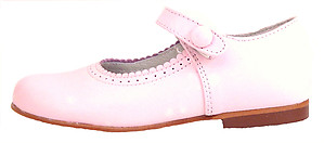 FARO F-2467 SN - Girls' Pink Leather Dress Shoes - EU 28 Size 11