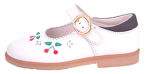 FARO F-3292 - White  Cherry Mary Janes