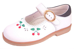 DE OSU/FARO F-3292 - White  Cherry Mary Janes