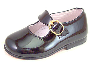 DE OSU/FARO F-3343 - Black Patent Dress Mary Janes - EU 19 US 4-4.5