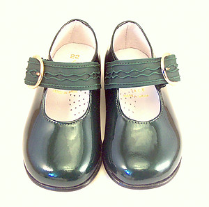F-4241 - Green Patent Dress Shoes - Euro 21 Size 5