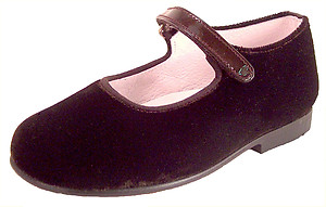 DE OSU K-1018 - Brown Velvet Mary Janes