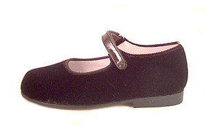 K-1018 - Brown Velvet Mary Janes