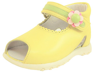 K-1054 - Chatreuse Yellow Sandals - Euro 19 Size 4