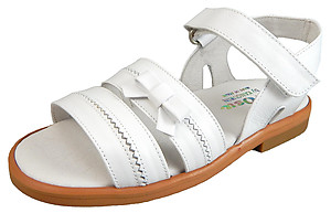 K-1066 - White Leather Dress Sandals