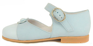 K-1078 - Light Blue Mary Janes - Euro 25 Size 8