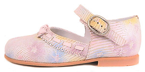 K-1079 - Pink Flower Mary Janes - Euro 25 Size 8