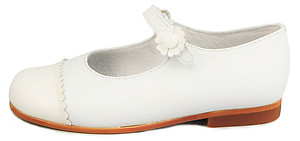 K-1220 - White Cap Toe Mary Janes