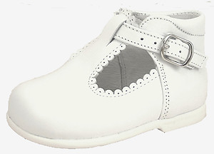 K-5146 - White High Top T-Straps