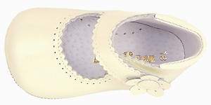 PI-1181 - Ivory Patent Crib Shoes
