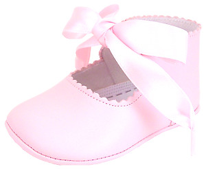 PR-229 - Pink Dress Crib Pram Shoes