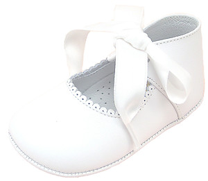 De Osu PR-229 - White Ribbon Crib Shoes
