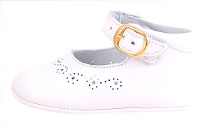 FARO PR-284 - White Dress Crib Shoes