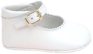 PR-326-1 - White Pearl Crib Shoes