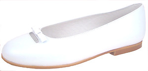 S-1394 - White Leather Ballet Flats