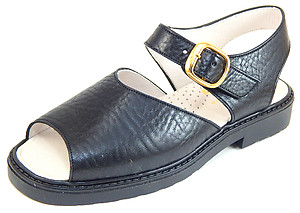 S-5003 - Black Leather Sandals