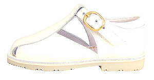 S-6579 - White Patent Shoe-Sandals