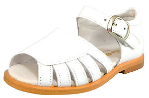 S-7026 - White Dress Sandals - Euro 24 Size 7