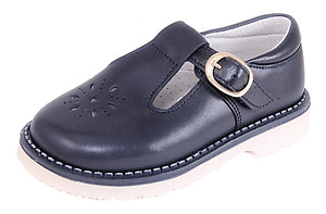 S-7365 - Navy T-Strap Shoes