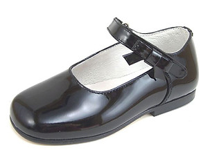 DE OSU K-1080 - Black Patent Dress Mary Janes
