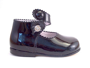 FARO F-3506 - Black Patent Button High Tops