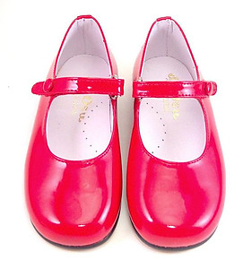 P-2550 - Red Patent Button Shoes