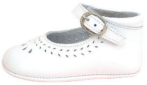 De Osu PR-230 - White Dress Crib Shoes