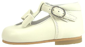 K-5625 - Ivory Bow Dress Shoes