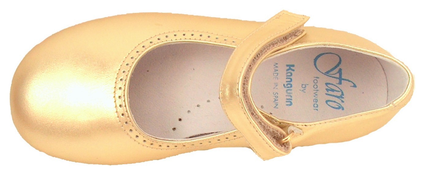 FARO B-7704 - Gold Dress Mary Janes