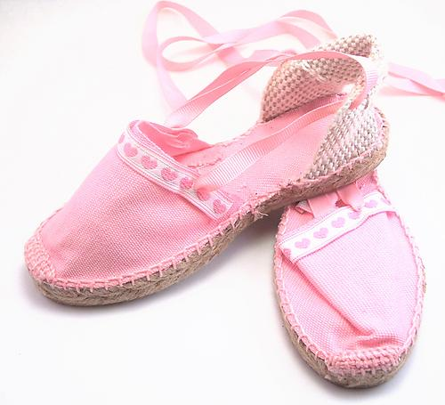 E-11 - Pink Espadrilles with Roses