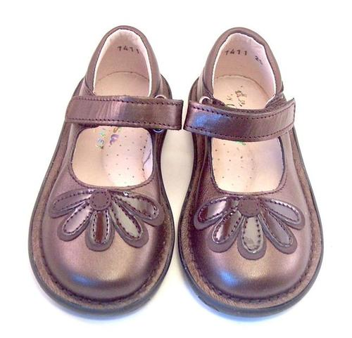 DE OSU 5Z7411 - Brown Metallic Mary Janes