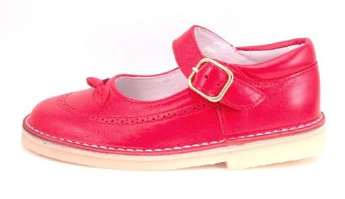 A-1244 - Red Snap Buckle Mary Janes