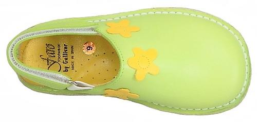 FARO 5H0411 - Lime Flower Clogs - Euro 26 Size 9