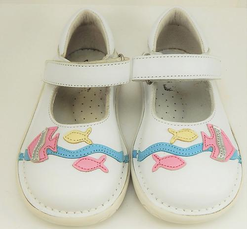 FARO 5Y0611 - White Fish Mary Janes - Euro 24 Size 7