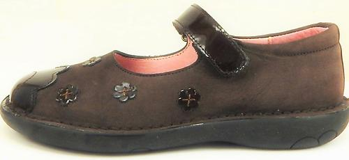 5Z7511 - Brown Flower Mary Janes