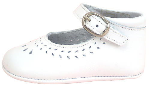 PR-230 - White Dress Crib Shoes
