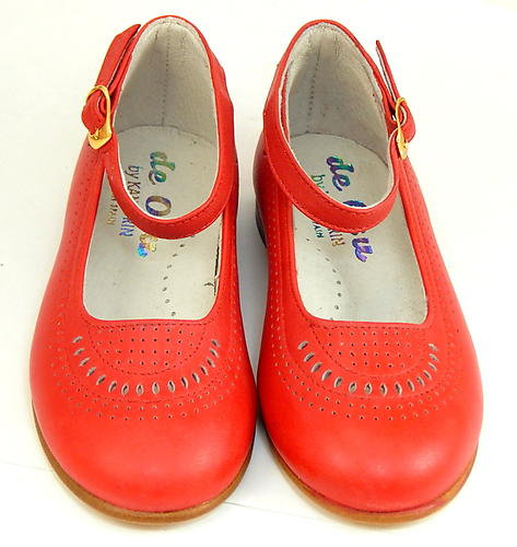 6218 - Red Leather Anklestraps