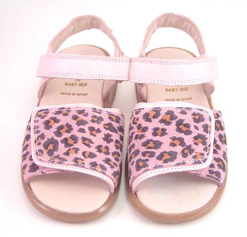 FARO B-7152 - Leopard-Cheetah Leather Sandals