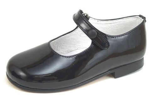 P-2550  - Black Patent Button Shoes