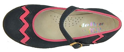 A-1067 - Navy-Fuschia Mary Janes