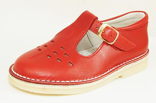 A-1154 P - Red School Shoes - Euro 21 Size 6